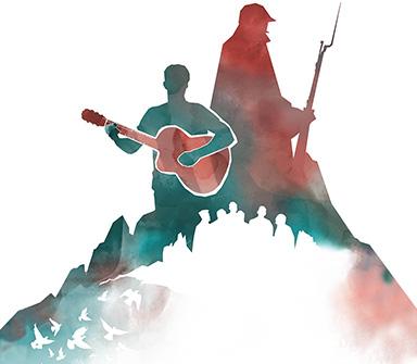 Logo Canti di Guerra Note di Pace