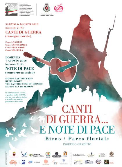 Poster Canti di Guerra Note di Pace